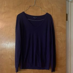 Purple Gap V neck Sweater